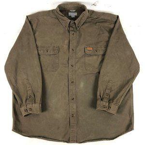 Carhartt mens shirt original fit 509 Brown Long